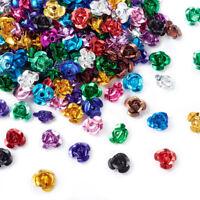 1Bag Metal Aluminum Rose Flower Tiny Beads Mixed DIY Jewelry 6x4mm about 950pcs