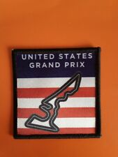 US Grand Prix Circuit sublimation iron or sew on 3 inch patch badge F1