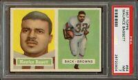 1957 Topps FB Card # 64 Maurice Bassett Cleveland Browns PSA NM 7 !!!