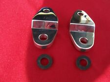 YAMAHA BANSHEE ATV BILLET REAR PIPE HANGERS POLISHED TO A MIRROR FINISH