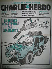 CHARLIE HEBDO 549 CHAUFFARDS DE PARIS DAKAR RISS WOLINSKI LUZ PAJAK  2002
