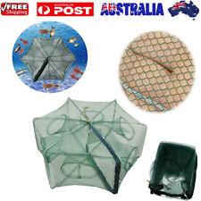 Fishing Shrimp Fish Crab Yabbie Bait Net Trap Cast DIP Cage 6 Holes Foldable