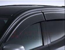 BRAND NEW GENUINE MITSUBISHI MQ & MR TRITON DUAL CAB WEATHER SHIELDS WIDE TYPE