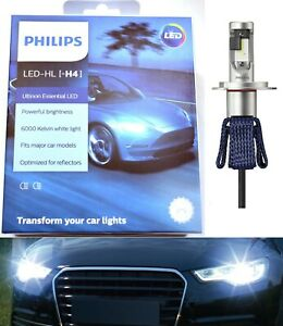 Philips Ultinon LED G2 6000K White H4 Two Bulbs Fog Light High Beam Upgrade OE