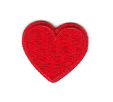 "1"" Small Red Heart - Love - Valentine'S Day - - Iron On Embroidered Patch"