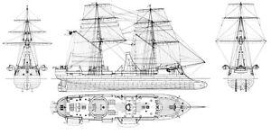 SMS PRINZ ADALBERT (1864), Schlachtschiff.  Modellbauplan M 1:50
