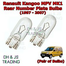 2x Renault Kangoo Be Bop Genuine Osram Ultra Life Number Plate Lamp Light Bulbs