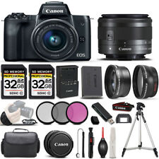 Canon EOS M50 SLR Camera + 15-45mm STM Lens + ULTIMATE Accessory Bundle
