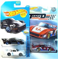 3 Hot Wheels Porsche Supercars, two 934.5 plus a '78 935 from Track Day-Mip!
