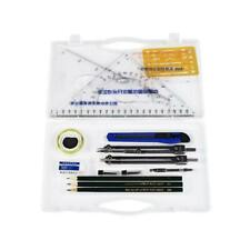 16pcs/set Drafting Compass Kit Drawing Ruler Pencil Student School Supplies Tool