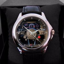 Audi Car Logo Nascar Rally Steering elegant leather man, woman Sport Watch reloj