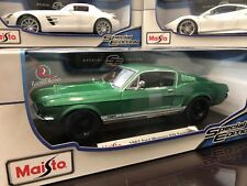 *SALE* Maisto 1:18 Scale Diecast Model - 1967 Ford Mustang GTA Fastback (Green)