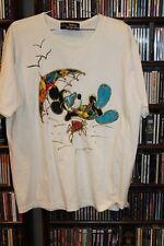 Disney Originals Wdw World Vintage Puffy Paint Mickey Mouse Beach Shirt Xl (b76)