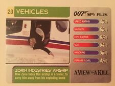 A View To A Kill Airship #20 Vehicles - 007 James Bond Spy Files Card