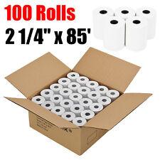 """100 Rolls - 2 1/4"""" x 85' Thermal Pos Receipt Printer Roll Paper Bpa Free U.S.A"""