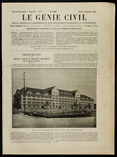 1908, Berlin : Magasin à grains de Tempelhof, sur le canal de Teltow