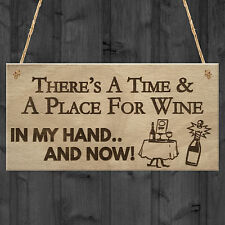 Time Place Wine Funny Alcohol Bar Garden Pub Home Wood Plaque Gift Sign MAN CAVE