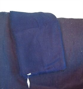 100% Cashmere |Blanket/Throw |Hand Loomed |Nepal | Navy & Black