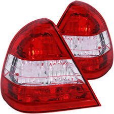 ANZO 1994-2000 Mercedes Benz C Class W202 Taillights Red/Clear - anz221157