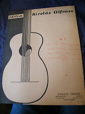 Partition Guitare Bach Dowland Grieg Teleman Nicolas Alfonso N7 Music Sheet 1962