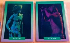 1991 Brockum Rock Cards Iggy Pop Set 2 Cards Stooges