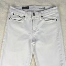 J Crew Women's White Jeans Toothpick Size 26 Ankle Pants Denim Low Rise Stretch