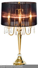 BEAUMONT BLACK & GOLD TABLE/BEDSIDE LAMP