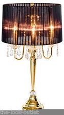 Beaumont black & gold table/lampe de chevet