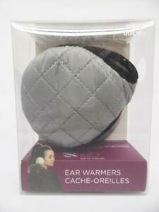 Degrees by 180s Women's Puffy Quilt Winter Headband Ear Warmers, Gray - One Size