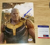 Josh Brolin SIGNED Thanos AUTOGRAPHED Avengers Infinity War 8X10 Picture PSA JSA