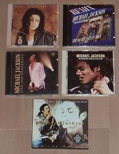 5 cd Michael Jackson rare disque japonais / américain /