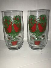 Set of 2 1981 2nd Day Second Day Of Christmas Glasses