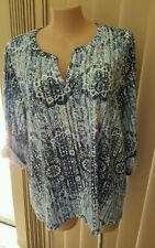 Autograph 3/4 Sleeve Tunic Plus Size Tops & Blouses for Women