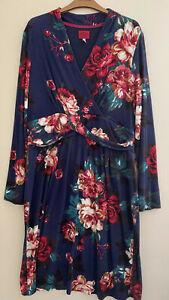 Joules Ladies Blue Floral Dress Size 16