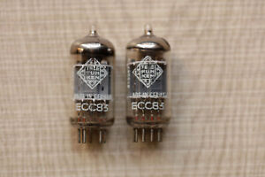 2x Telefunken ECC83 12AX7 PAIR Matched 95% TUBE Valvulas 165 V46 NOS NEW