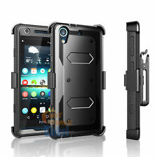 For HTC Desire 626 626S Clip Holster Hard Case Cover W/Built-in Screen Protector