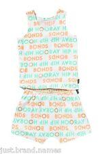 Bonds Girls Children 2 Piece Singlet PJ Sleepwear Set Sizes 3 4 5 6 7 White 8