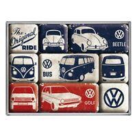 VW Original Ride Magnet Set 9 tlg. Poly Box Nostalgie Set NEU