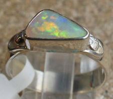 Multicolor Crystal Opal 1.5 Karat 950er Silberring Größe 18,4 mm