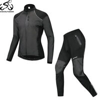 Winter Men's Cycle Clothing Set Long Sleeve Cycling Jersey Bicycle Pants Suit