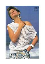 Ladies Summer Top Vest Knitting Pattern PATTERN ONLY 30-40 inch Ribbon Cotton