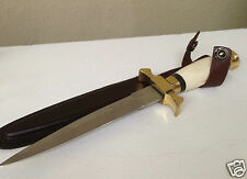 "Athame  Bone Renaissance Double Sided Dagger, 10"" Ritual Knife, Altar Item Wicca"