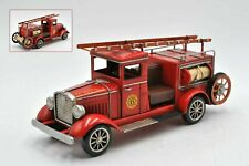 Fire Engine Dream Truck Vintage Antique 1931 Tin Metal Model 24 Pumper Car 6 NR