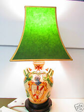 Sgraffito Italy Etched Majolica Table Lamp
