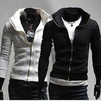 J105 New Stylish Slim Fit Mens Hoodies Jackets Coats 2 Colors 4 US Size