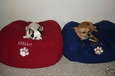 SNUGGLE BALL DOG BED FLEECE SMALL CHOOSE COLOR + PERSONALIZED with Dog's Name