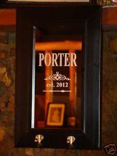Custom Wedding Anniversary Gift Dublin 2-Hook Personalized Etched Bar Pub Mirror