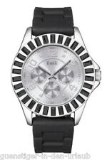 FIRETTI Armbanduhr Damenuhr Damenarmbanduhr schwarz Silikonarmband NEU