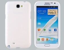 Funda Carcasa Galaxy Note II 2 N7100 Glossy Brillante TPU Blanco