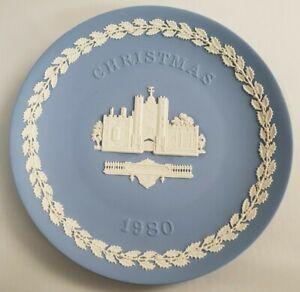Wedgwood Jasperware 1980 Christmas Plate St. James's Palace Vintage